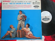 Aimable Avec Son Accordéon Et Son Orge Tous Les Garcons Et Les Filles LP Album