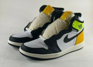 Nike Air Jordan 1 Retro High White Black Volt University Gold 555088-118