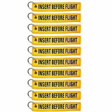 10 Pack Insert Before Flight Key Chain Yellow aviation truck motorcycle pilot