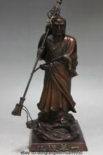 Chinese Buddhism craftwork Red Copper Bronze DaMo Dharma buddha By ferry potamic
