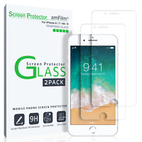 iPhone 8 / 7 / 6S / 6 amFilm Premium Tempered Glass Screen Protector (2 Pack)