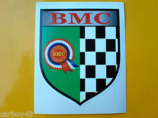 BMC ROSETTE Chequered Shield Classic Retro Decal Sticker 1 off 85mm