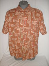 Field and Stream Men's Casual Dress Shirt Fish Brown 2X