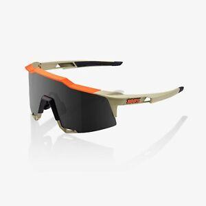 100% Percent Cycling Sunglasses Speedcraft - Soft Tact Quicksand - Smoke Lens