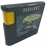 Populous SEGA Genesis Cart Only - Cleaned & Tested - FREE SHIP