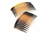 8cm Curved Tort Brown Side Hair Combs Slides Hair Accessories