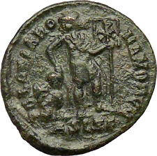 VALENTINIAN II 378AD Ancient Roman Coin Labarum Christ monogram  Chi-Rho  i29211
