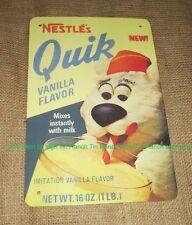 New QUIK TIN SIGN vintage Nestle milk can 60s diner bar kitchen RETRO Teddy Bear