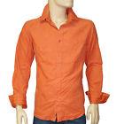 Chemise velours orange IKKS MEN homme regular taille XL
