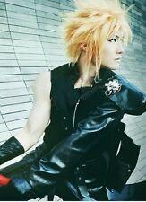 Final Fantasy VII Cloud Strife Short Blonde Anime Cosplay Wig + hairnet
