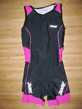New listing ZOOT SkinSuit TRIATHLON Womens SMALL Skin TRI Suit ZIP FRONT with ATTACHED BRA