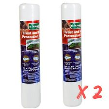 2 Rolls 8m x 1.5m Frost and Insect Plant Protection Fleece Blanket Cover Sheet