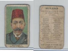 E6 Lauer & Suter, Rulers, 1910, Mehmed V - Turkey