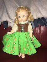 "Madame Alexander Bent Knee Tyrolean 8"" Alexanderkin Tagged Dress"