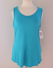 L - Large LuLaRoe Tank Top Solid Turquoise Blue -  NWT Free Shipping!