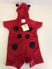 Baby Infant Girls Size 0-6 Months Hooded Lady Bug Halloween Costume!