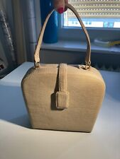 Vintage Handtasche 50er/60er Schlange Leder Beige Blogger Top Zustand