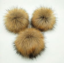 Women Faux Raccoon Fur Pom Pom Ball with Press Button for Knitting Hat DIY TKL