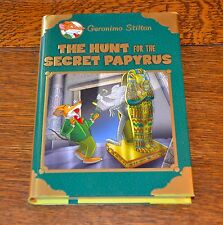 GERONIMO STILTON, THE HUNT FOR THE SECRET PAPYRUS - BRAND NEW 2016 HARDBACK