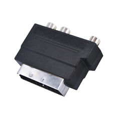 RGB Péritel à Composite 3 RCA S-Vidéo Audio Adaptateur Pour Enregistreur Vidéo