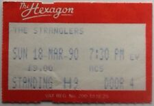 Stranglers Original Genuine Used Concert Ticket Hexagon Reading 1990
