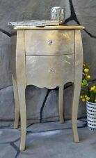 Nachttisch mit 2 Schubladen Pomp GOLD barock antik Landhaus H71 cm LV2013