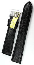 19mm  /16 flach ECHT ALLIGATOR BAND made GERMANY GRAF Louisiana KROKO Uhrband