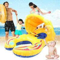 Inflatable Mother & Baby Swim Float Ring Raft Boat Swimming Pool Kids Seat