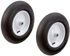 Hand Truck Pneumatic Tires 16 in. Wheels Replacement Lawn Garden Cart 2-Pieces