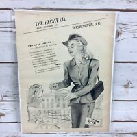Vintage 1946 Rosenblum The Hecht Co The Eton Collar Original Print Ad Charm