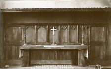 REAL PHOTOGRAPHIC POSTCARD THE REREDOS, PETER & PAUL CHURCH, FAREHAM, HAMPSHIRE