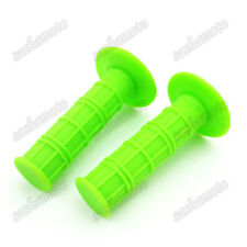 Green Soft Rubber Handle Hand Grips For Pit Dirt Trail Motor Bike Mini Motocross