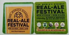 Wetherspoon Real Ale Festival 2020 X2 Beer Mat Coaster NEW