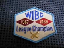 Old Vtg Women's Bowling Embroidered Patch WIBC League Champion 1967-1968 Badge