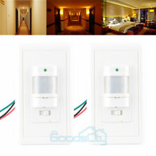 2PACK Auto On/Off Infrared PIR Occupancy Vacancy Motion Sensor Light Lamp Switch