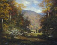 On Fold On Shepherd by Larry Dyke Landscape 32x26