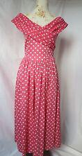 Laura Ashley robe taille 38 Points Polka Dots Rose Blanc Vintage blogueurs d'été
