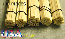 STYRENE RECTANGLE TUBES - 100 PIECE LOT - 5 SIZES - WITH 1/8""