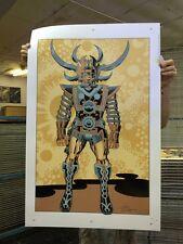"Heavy Metal Jack Kirby SAM Metallic Screen Print 24 x 36"" Lord of Light Argo"