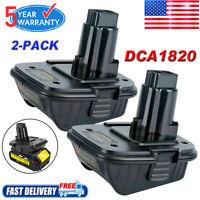 2x For Dewalt DCA1820 Battery Adapter Converter MAX 20Volt-18Volt Lithium Tools