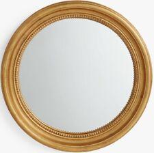 John Lewis Beaded Round 60cm Convex Mirror - Gold B+