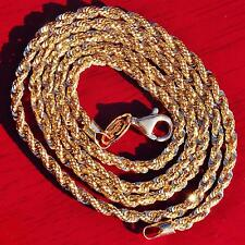 """Duragold 14k yellow gold necklace 18.0"""" french rope chain vintage 7.5gr"""