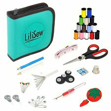Sewing Starter Kit Supply Tool Notions Accessories Craft Compact Carry Case Home