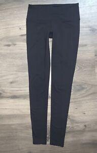 ATHLETA CHATURANGA Tight Leggings Pilayo Full Length Black 919052 Sz XXS
