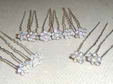 Lot 20 épingles à cheveux fleurs perle strass mariée accessoire