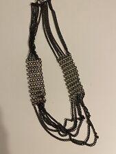 Costume Jewelry Black chain rhinestone necklace