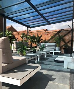 6000 X 4000 Projection Veranda/garden structure/choice of colours/glass roof