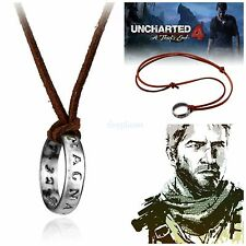 UNCHARTED NATHAN Drake's Anello Collana Ciondolo cosplay Gaming PS4 UK Venditore