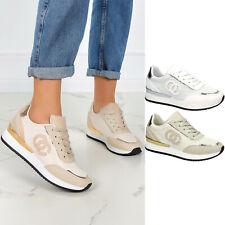 Damen Sneaker Keilabsatz Sportschuhe Schnürschuhe Freizeit Leicht Komfortabel