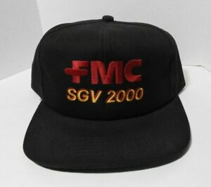 "1990's CATERPILLAR FMC ""SGV 2000"" SNAPBACK TRUCKER CAP K-PRODUCTS FORKLIFT RARE"